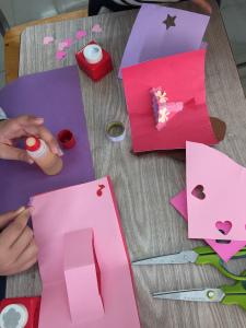 バレンタインカード作り
