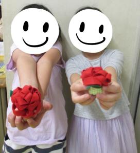 お花のマグネット作り